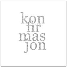 Konfirmasjonskort med Konvolutt 12,5 x 12,5 cm
