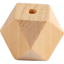 Facettslipad träpärla