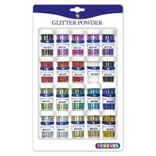 Glitter 20 färger i burk Playbox
