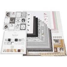 Designpapir i blokk, str. 30,5x30,5 cm, 50 sider, 50 ark