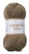 Alpacka Solo Ullgarn 50g Brunmelerad (29104)