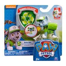 Paw Patrol, Actionfigur med bricka, Rocky