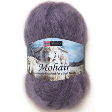 Viking of Norway Mohair 50 gr Lilla 369