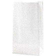 Papirposer, H: 17 cm, str. 6x9 cm, hvit, 8stk., 150 g