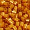 Rörpärlor, stl. 5x5 mm, hålstl. 2,5 mm, 1100 st., guld