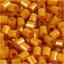 Rörpärlor, stl. 5x5 mm, hålstl. 2,5 mm, guld (61), medium, 1100st.