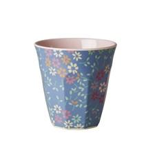 Rice Mugg Melamin Wild Flower Print Soft Pink