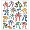 Stickers,  15x16,5 cm, ca. 19 st., , transformers, 1ark