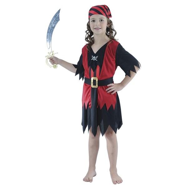 Piratflicka Maskeraddräkt Barn (122-134) fc53ab0e9233e
