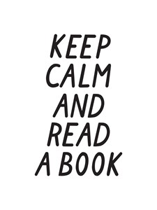 Keep calm and read a book Juliste 21x30cm