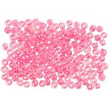 Rocaillepärlor 8/0 Rosa Kärna Klar 25 g