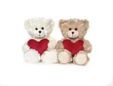 Nalle Samuel med hjärta, Beige, Teddykompaniet