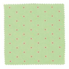 Kit Kangas 4, pilkullinen vihreä / pinkki - 55/ 55 cm, 100% puuvilla