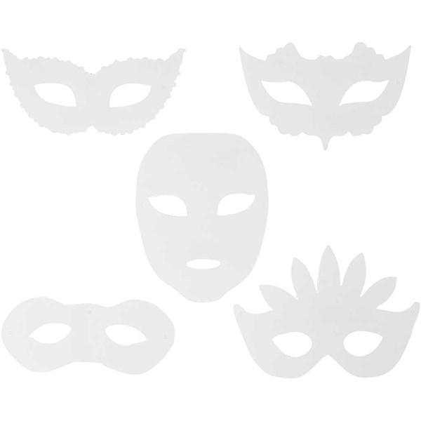 Teatermasker, H: 8,5-19 cm, B: 15-20,5 cm, 16stk., 230 g