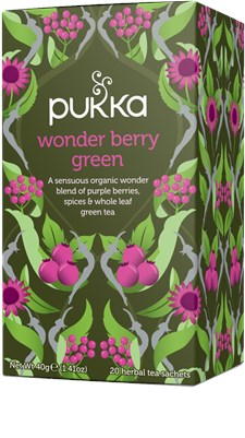Pukka Te Wonder Berry Green Tepåsar 20 st Ekologisk