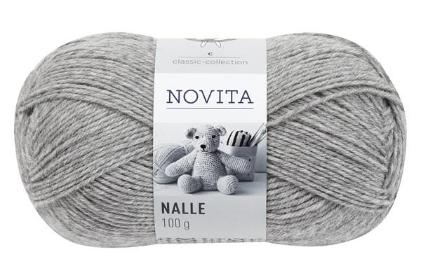 Novita Nalle Garn Ullmix 100 g grå 043
