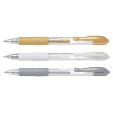 Gelpenna G-2 Metallic 3-pack Guld/Silver/Vit Pilot