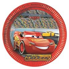 Disney Cars 3 Papptallrikar, 8 st