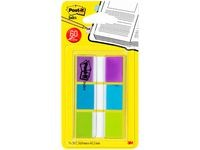 Index POST-IT 25x43 mm lilla turkis lime