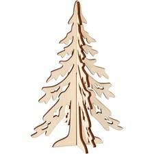 Kuusipuu, kork. 20 cm, lev. 13 cm, vaneri, 1kpl