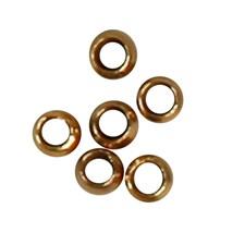 Klämpärlor till Smyckewire dia 2 mm Guldpläterad 100 st