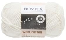 Novita Wool Cotton Garn Ullmix 50 g, naturvit 010