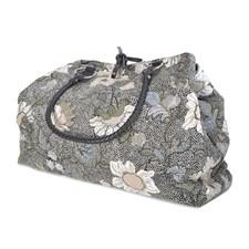 Ceannis Flower Linen Weekend Bag Black