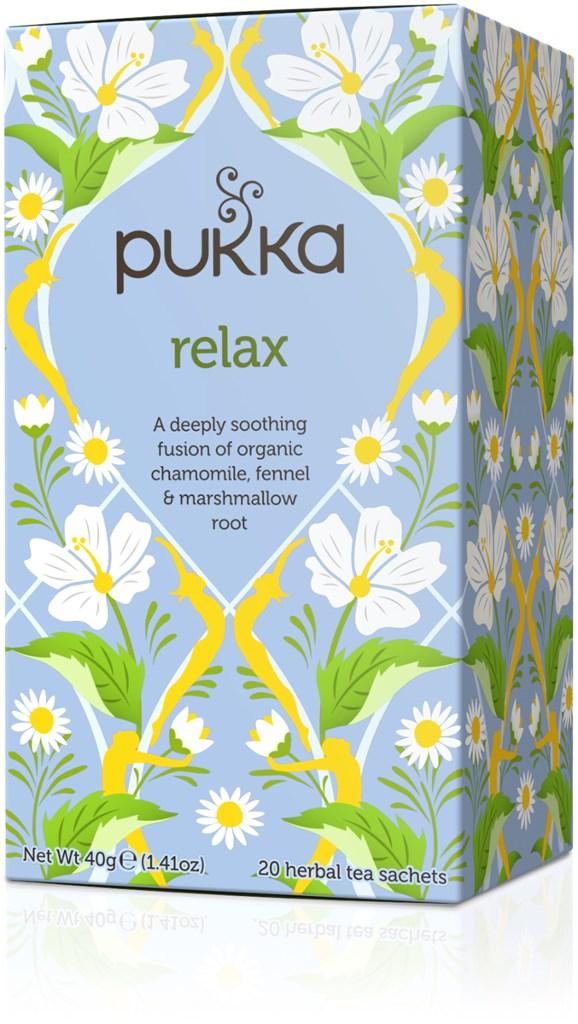 Pukka Te Relax Tepåsar 20 st Ekologisk