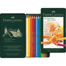 Värikynät Polychromos peltirasiassa 12 kpl Faber-Castell