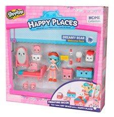 Shopkins Welcome Pack, Dreamy Bear, Happy Places