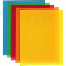 Krympeplast, ark 20x30 cm, 100 ass. ark, sterke farger