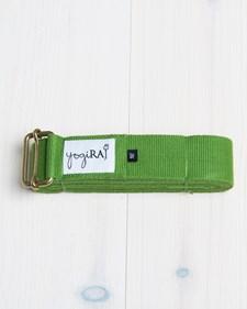 Yogabälte, ekologisk bomull, 305 cm - yogiRAJ - Grön