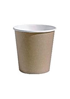 Pappersbägare 10 cl Brun/Vit 80 st