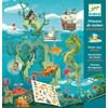 Pyssel, Havet, Flyttbara Stickers, Djeco