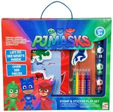 Stamp, Sticker and Play Set, Pyjamashjältarna