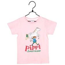 Pippi T-shirt, Rosa, Strl 104, Pippi Långstrump