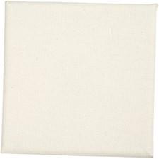 Målarduk i canvas 10x10x1,6 cm Oblekt 10 st