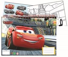 Cars 3 Värityskirja Sense A4 1 arkki tarroja, 3 kuvaa, valkoisia arkkeja40 kpl