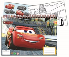 Sense Cars3 Målarbok A4 1 Ark Stickers, 3 Bilder, Vita Blad40st
