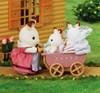 Set med tvillingarna Chokladkanin (Barnvagn), Sylvanian Families