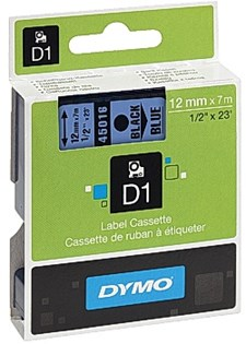 Teippi DYMO D1 12mm musta sinisellä
