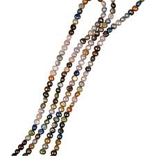 Sötvattenspärlor Dot 5-6 mm 1 Sträng (40 cm)