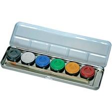 Kasvovärit paletissa, 6 väriä, värilajitelma