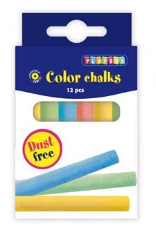 Tavlekritt, 12 stk Forskjellige farger