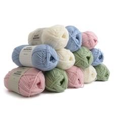 Adlibris Baby Merino Ull Garn 50g Pastell 12-pack