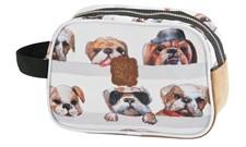 Toalettmappe Dogs, Grå, Pick & Pack