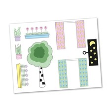 Sticker set, Creative Blommor, Lundby