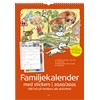 Väggkalender 20-21 Burde Familjekalender med stickers