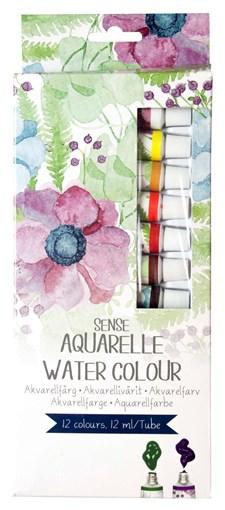Akvarellpenna i Plåtask Sense Artist Collection 12-pack