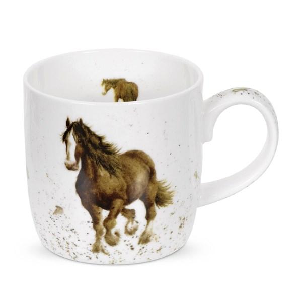 Royal Worcester WD Häst Mugg 31 cl Vit